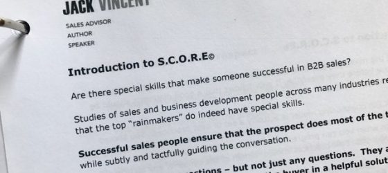 Introducing The S.C.O.R.E. Sales System & Sales Training Model